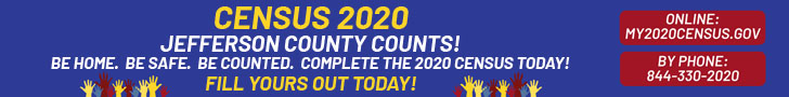 CENSUS 2020 BANNER Jefferson County Municiple Web Pages